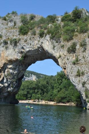 France, Arch Bridge Pont d'Arc