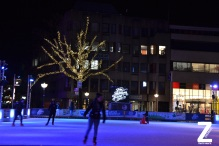 De Markt. Ice scating